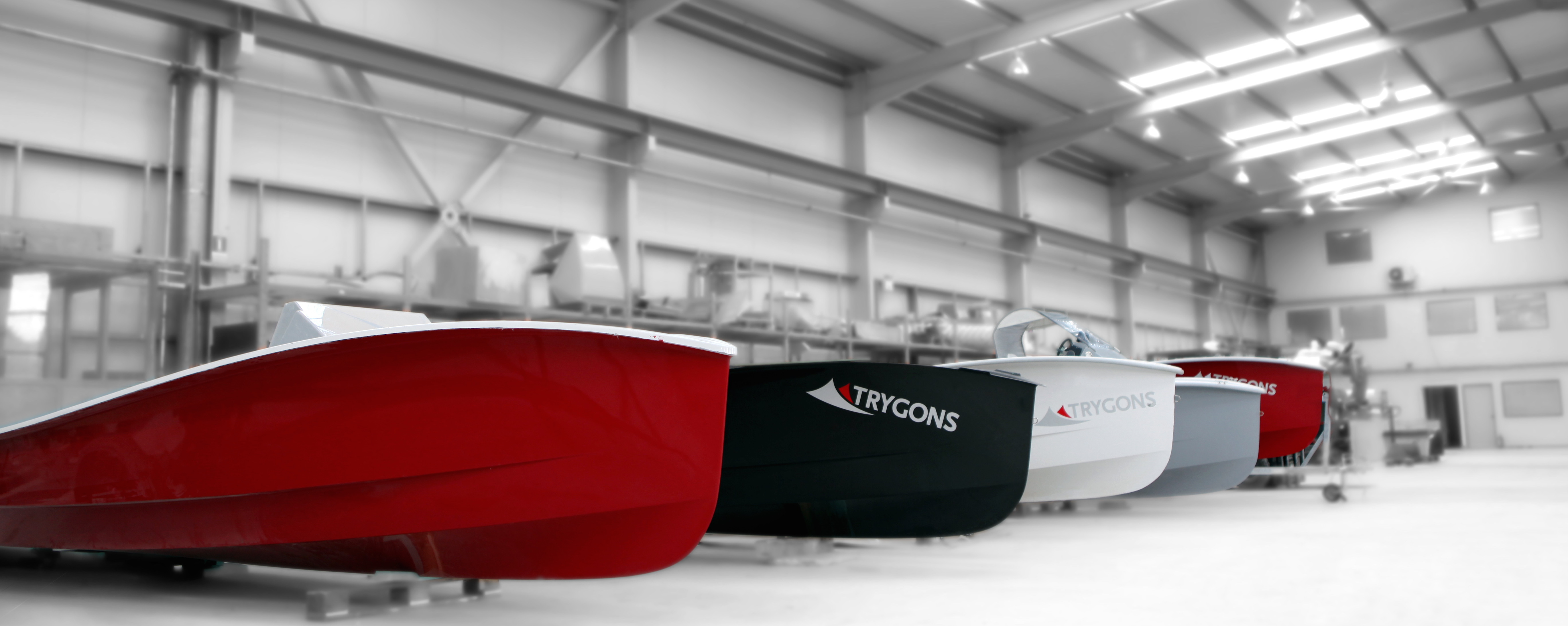 TRYGONS EcoRunner boat in its most popular colors