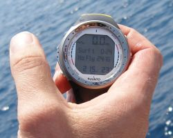 Herbert Nitsch's dive  watch during the 'No Limits'Freediving world record